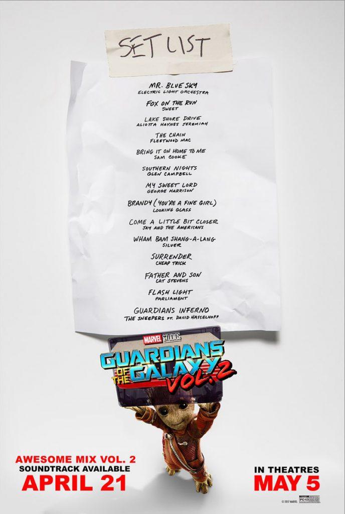 Les Gardiens de la Galaxie Vol.2 : la liste des chansons de l'Awesome Mix Vol. 2 !