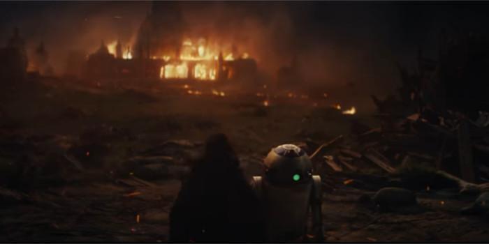 Star Wars Les Derniers Jedi : un flashback sur la destruction de l'académie Jedi ?