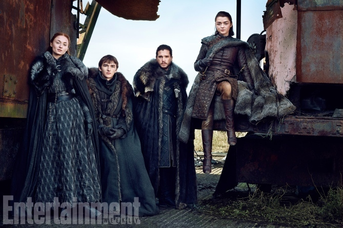 Game of Thrones : les Stark posent ensemble avant la saison 7 !