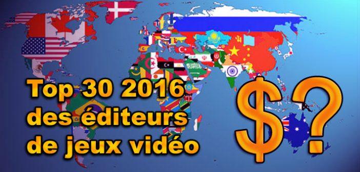 AFJV (l'agence française pour le jeu vidéo) nous adresse le bilan des meilleurs entrées d'argent de l'industrie. Qui sont les bons élèves de 2016 de ce classement chiffres jeux vidéo ?