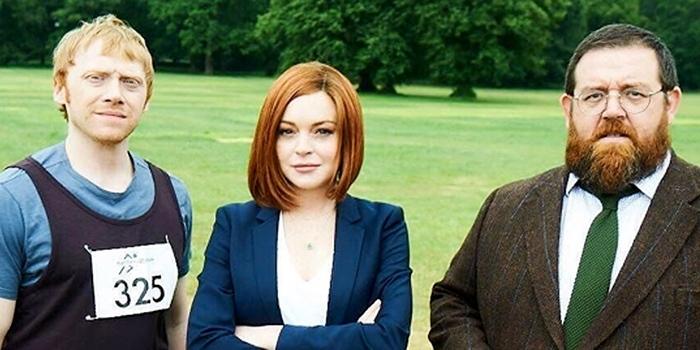 Ruper Grint, Lindsay Lohan et Nick Frost à bord de la série Sick Note !