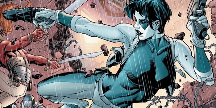 Premier aperçu de Domino qui prend la pose pour Deadpool 2 !