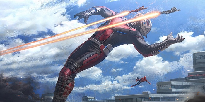 Civil War : Un concept-art de Captain America vs Giant-Man !