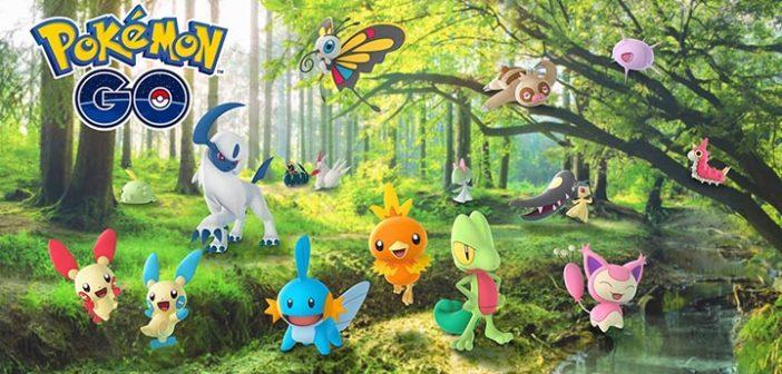 Pokémon Go 50 Pokémon d'Hoenn et des conditions climatiques en vue !