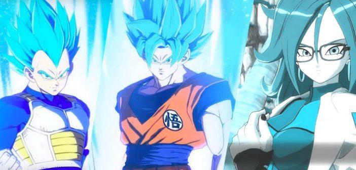 Dragon Ball FighterZ comment débloquer C-21, Gokû SS Blue et Vegeta SS Blue