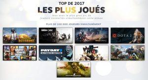 Steam fait son bilan des meilleurs jeux 2017_