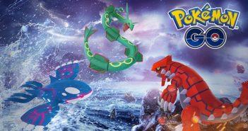 Pokémon GO Semaine Légendaire, Groudon, KyogreetRayquaza dispo en raids !