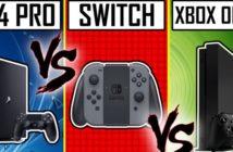 Due de consoles Switch vs PS4 Pro vs Xbox One X