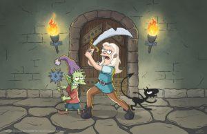 Disenchantment : premières images de la série Netflix par le créateur des Simpson