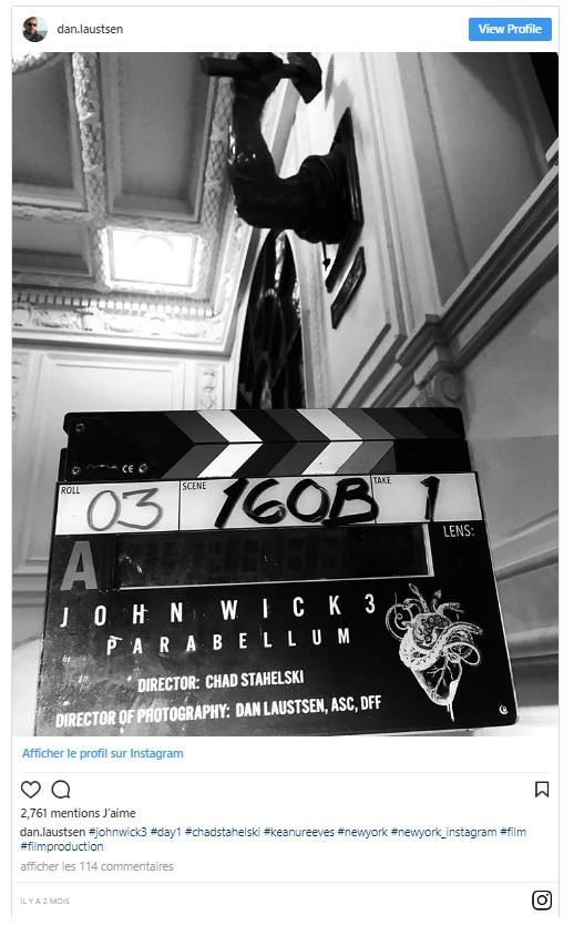 John Wick 3 les premières images de tournage