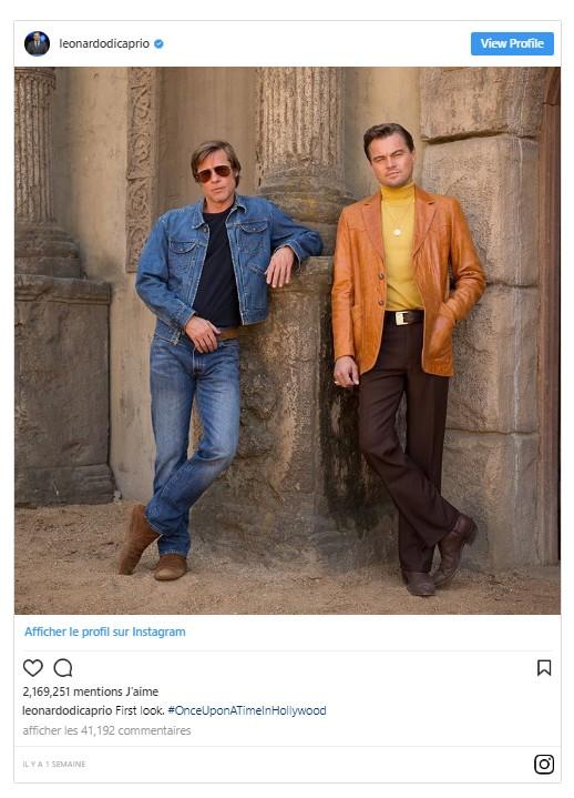 Once Upon A Time In Hollywood : une première image de Leonardo DiCaprio et Brad Pitt