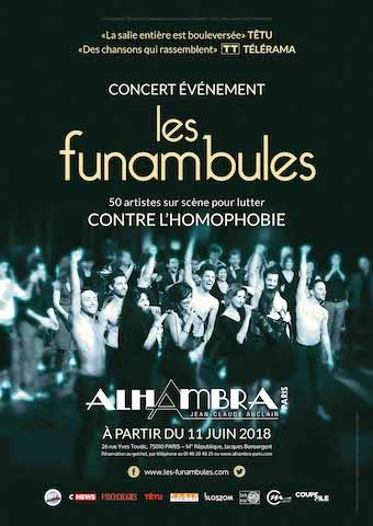 Spectacle Les Funambules-50 artistes unis sur scène pour lutter contre l'homophobie2
