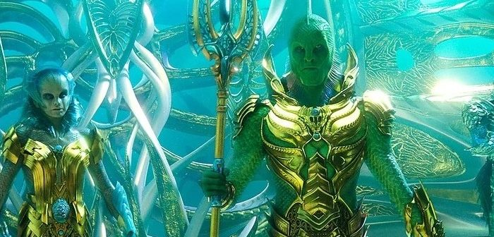 Aquaman : le Fisherman King se la joue Chevalier du Zodiaque