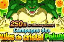 Dragon Ball Z Dokkan Battle : comment obtenir le 1er set des boules de cristal Polunga 250M
