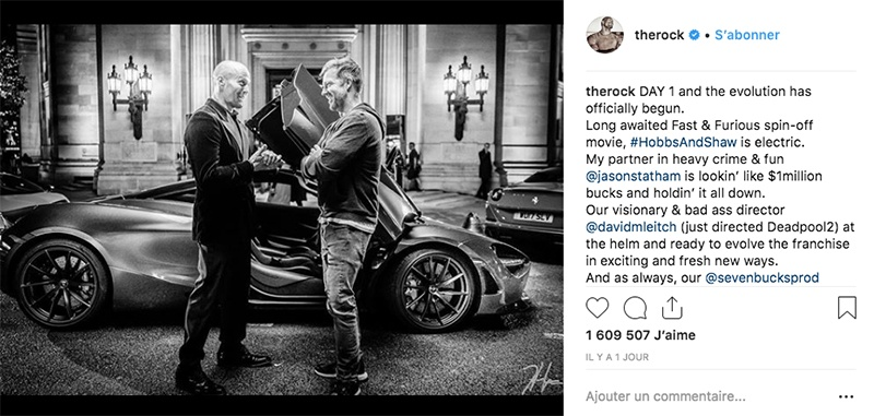 Hobbs and Shaw : le spin-off de Fast and Furious débute son tournage « Hardcore »