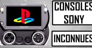 6 consoles méconnues de Sony !
