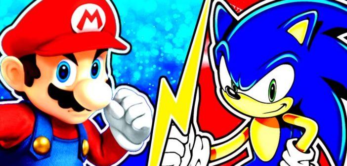 Mario vs Sonic duel de personnages