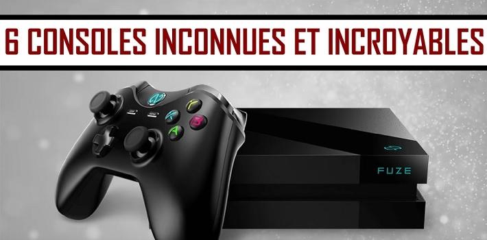 6 consoles de jeux méconnues et incroyables