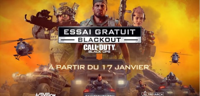 Call of Duty : Black Ops 4, Blackout gratos pour 1 semaine !