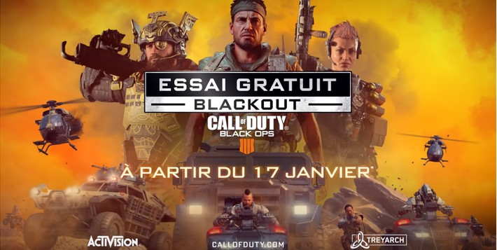 Call of Duty Black Ops 4, Blackout gratos pour 1 semaine !