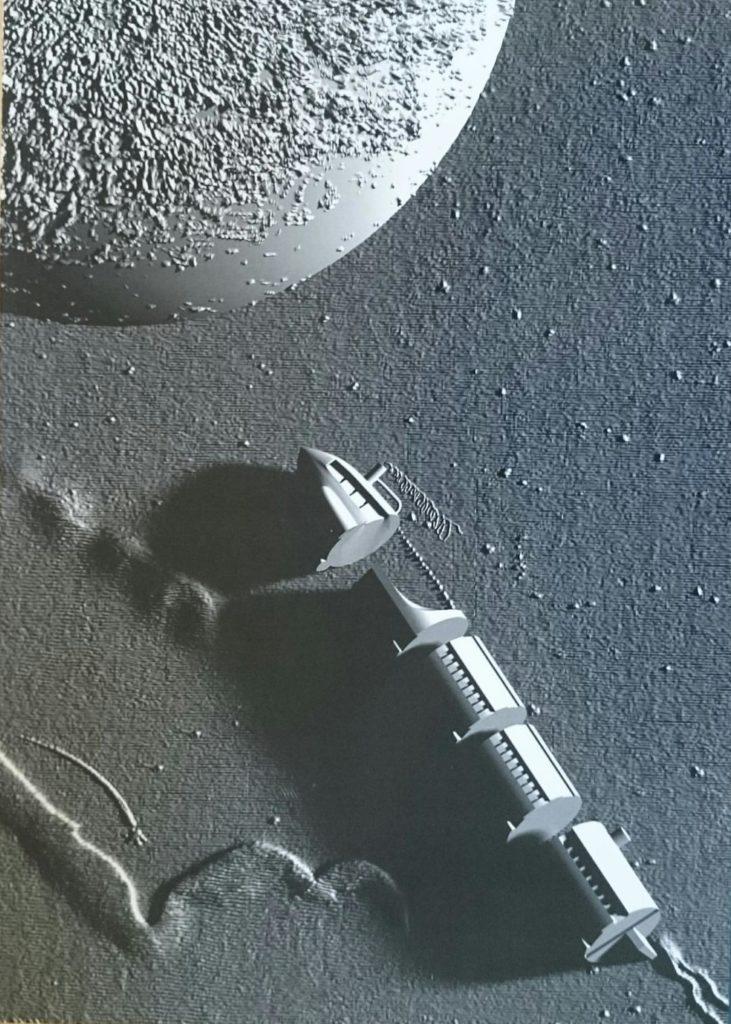 Association Valentin Haüy: les IA au service des déficientes visuelles !_image Jules Verne de la Terre à la lune_modélisation 3D
