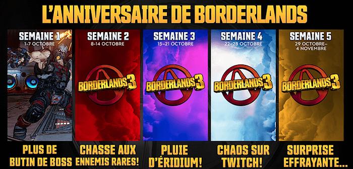 Borderlands fête ses 10 ans avec un mois entier de récompenses !