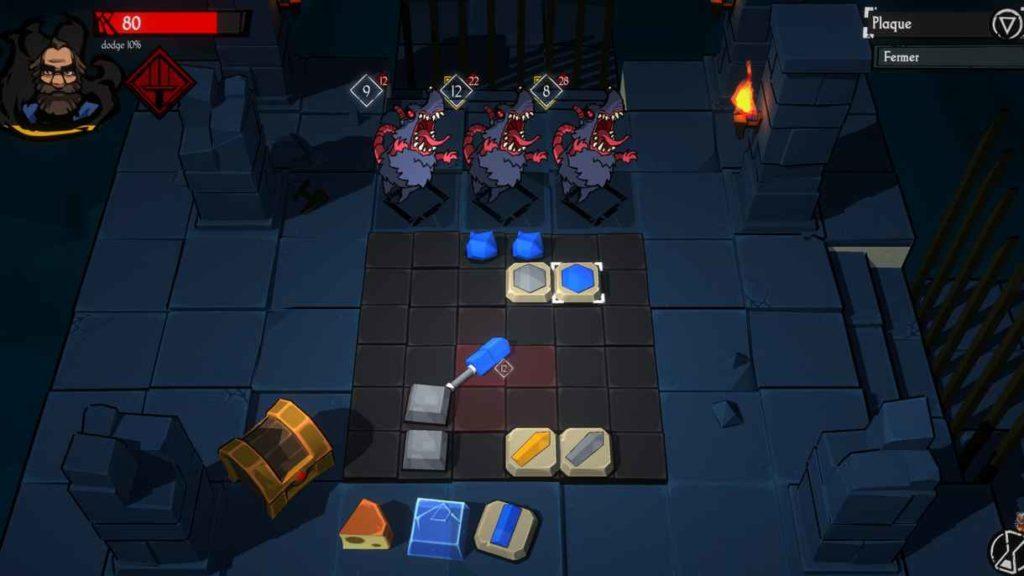 Preview Puzzle Forge Dungeon, ça chauffe tes méninges ! plateau de combat