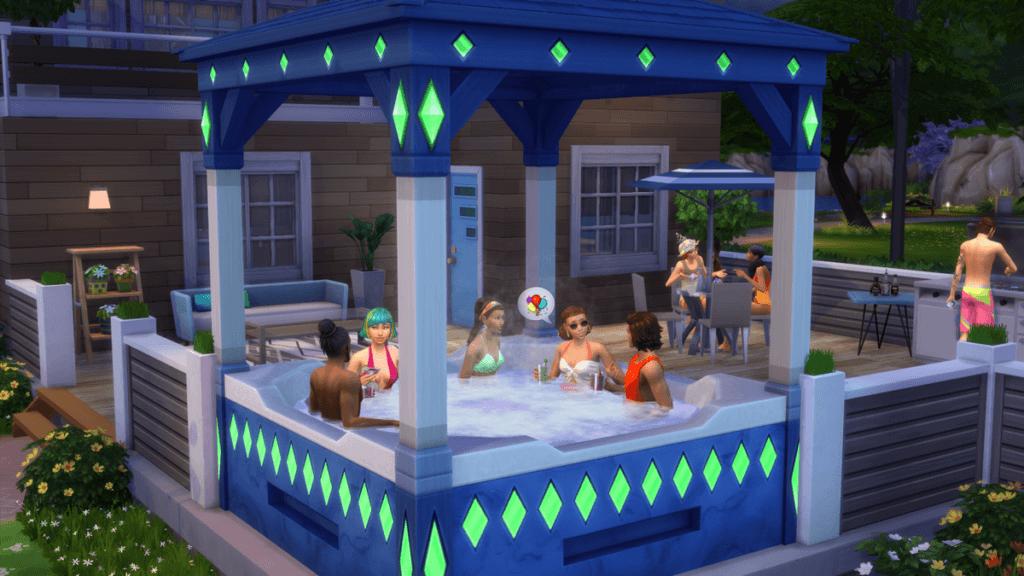 Les Sims 20 ans de Ooboo vroose, baa dooo bain à remous