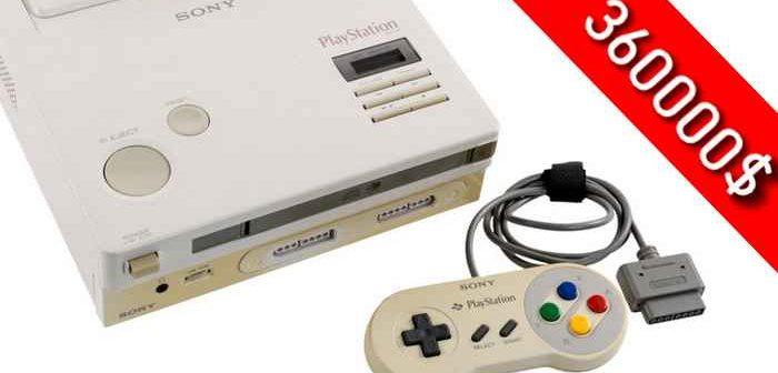 La Nintendo Playstation finalement acheté 360000 $ !
