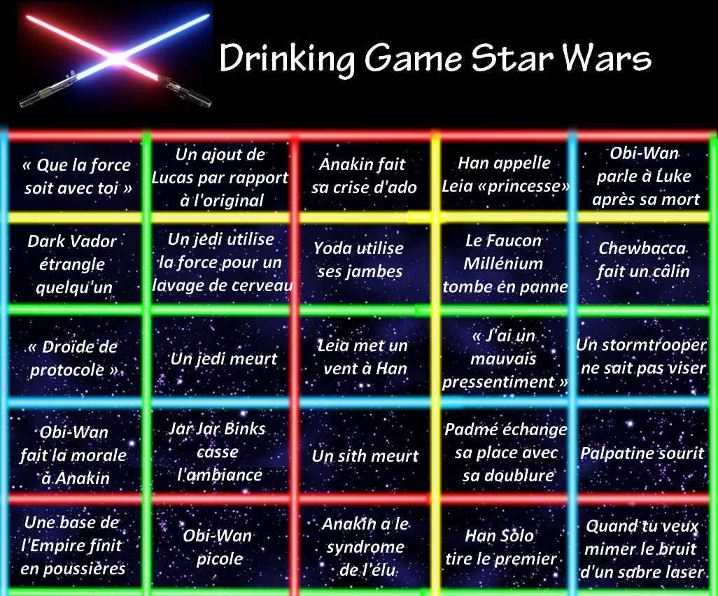 Le Drinking Game Star Wars !