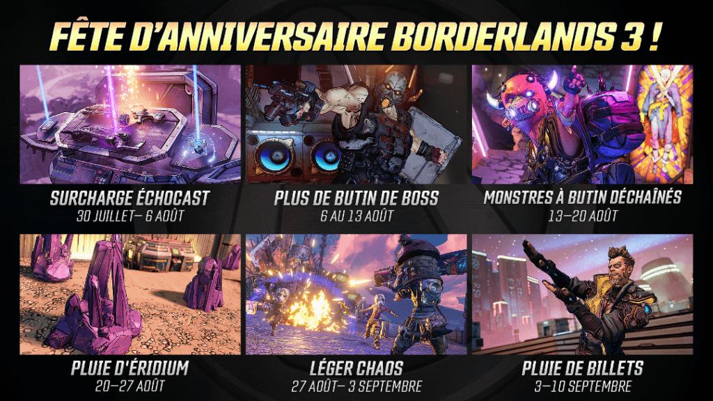 Borderlands 3, un mois d'évènements anniversaires_1