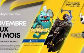 PS Plus les jeux de novembre 2020 !