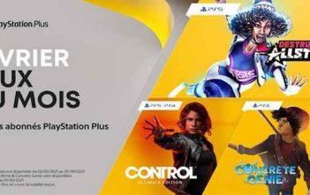 PlayStation Plus les jeux gratuits de février 2021 !