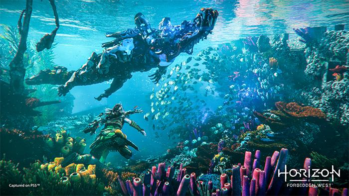 Le gameplay d'Horizon Forbidden West est flamboyant